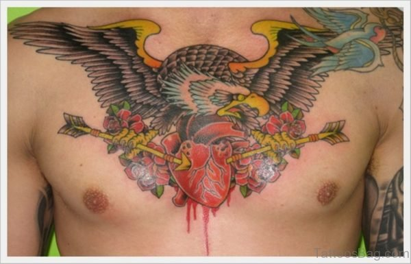 Heart And Eagle Tattoo