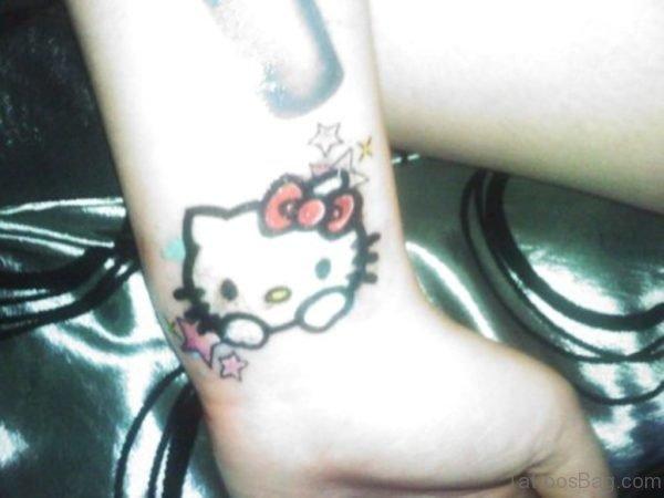 kitty kitty Wrist Tattoo