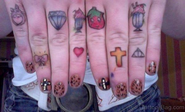knuckle Diamond Tattoo