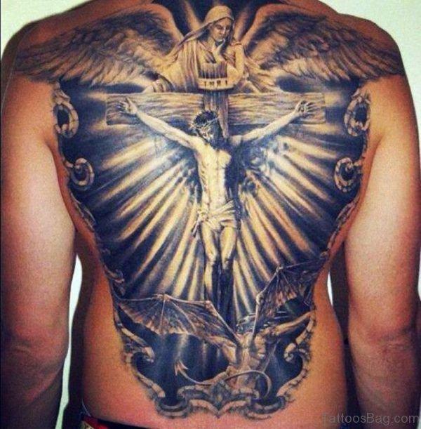 Stylish  Religious Tattoo Design