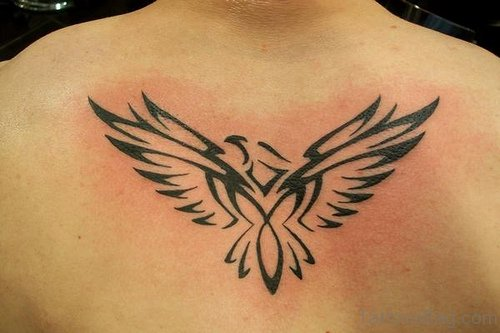 Tribal Eagle Tattoo On Back