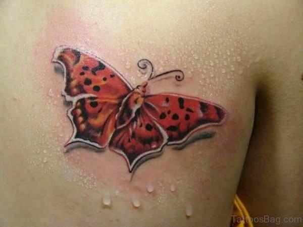 3D Butterfly Tattoo Design
