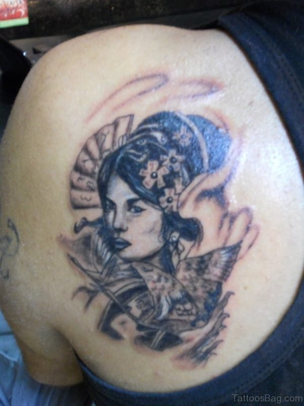3D Geisha Tattoo