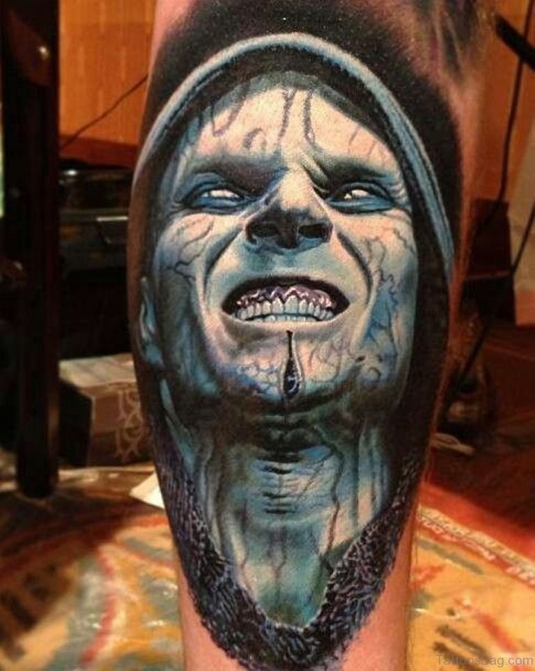 19fd5c78bd29d 51 Horror Zombie Tattoos For Leg