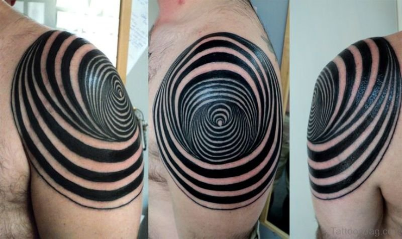 37 magnifying geometric shoulder tattoos. Black Bedroom Furniture Sets. Home Design Ideas