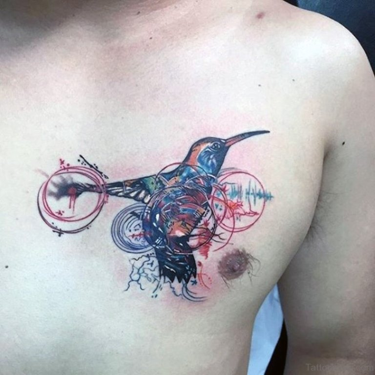 40 Pretty Hummingbird Tattoos For Chest