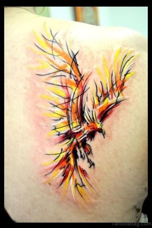 Abstract Phoenix Tattoo
