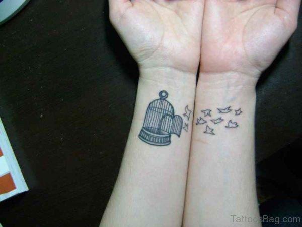 Adorable Birdcage Wrist Tattoo