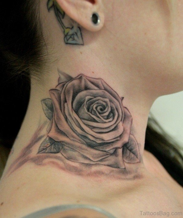 Gray Black And White Bedroom: 56 Enchanting Black And Gray Neck Tattoos