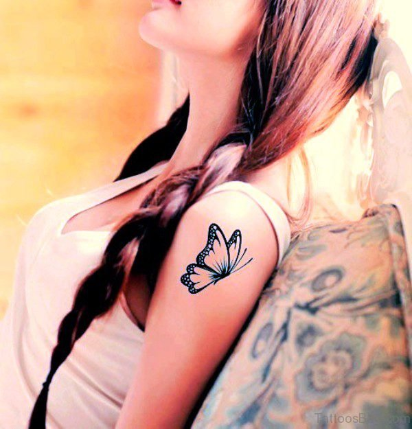 Adorable Butterfly Tattoo Design