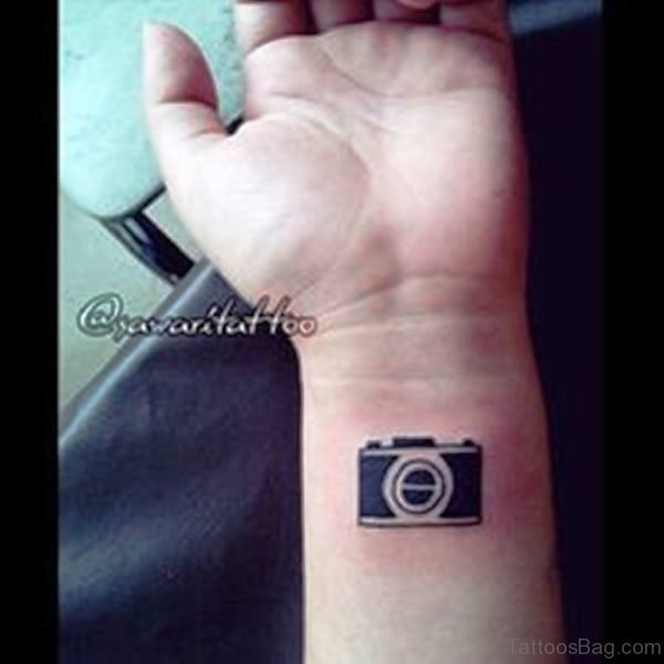 Adorable Camera Tattoo On Wrist
