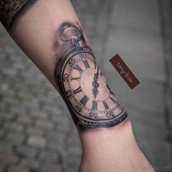 Adorable Clock Tattoo On Wrist