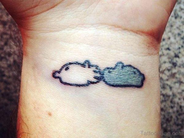 Adorable Cloud Tattoo On Wrist
