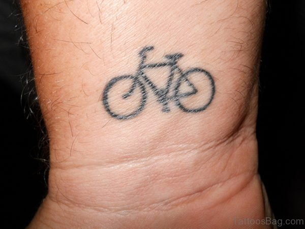 Adorable Cycle Wrist Tattoo