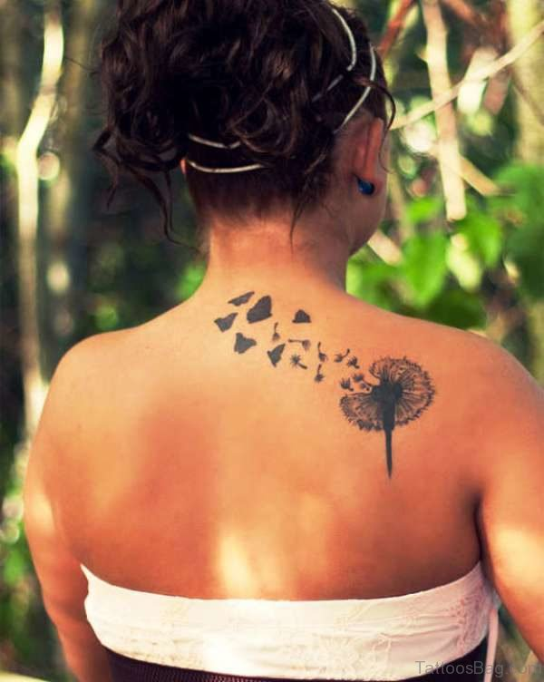 Adorable Dandelion Tattoo Design