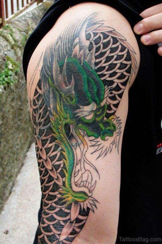 Adorable Half Sleeves Shoulder Tattoo
