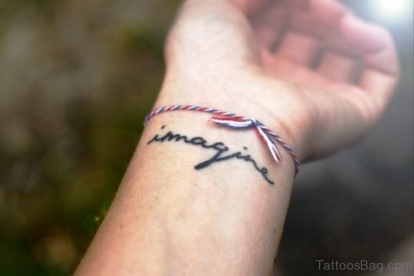 Adorable Imagine Wrist Tattoo