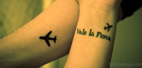 Adorable Plane Wrist Tattoo
