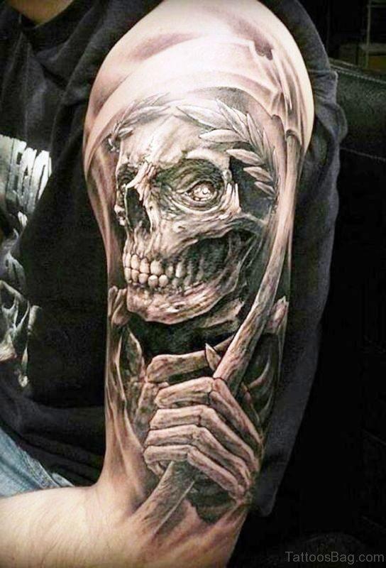Adorable Skull Tattoo Design
