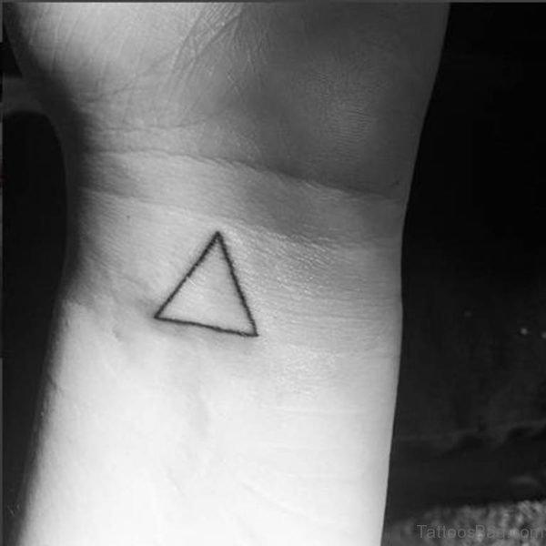 Adorable Triangle Tattoo