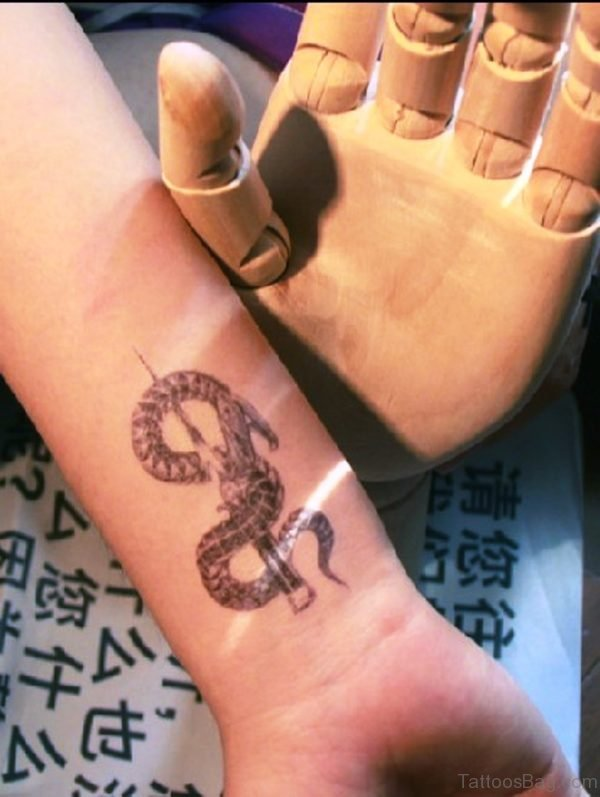 Adorable Wrist Snake Tattoo