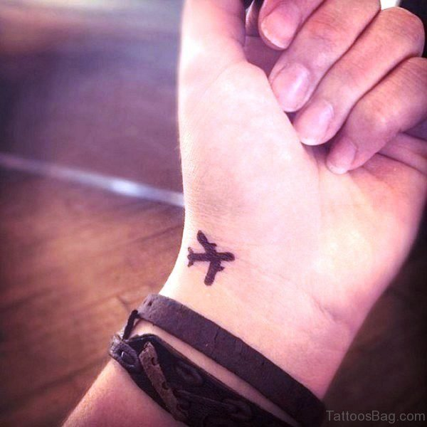 Aeroplane Tattoo On Wrist