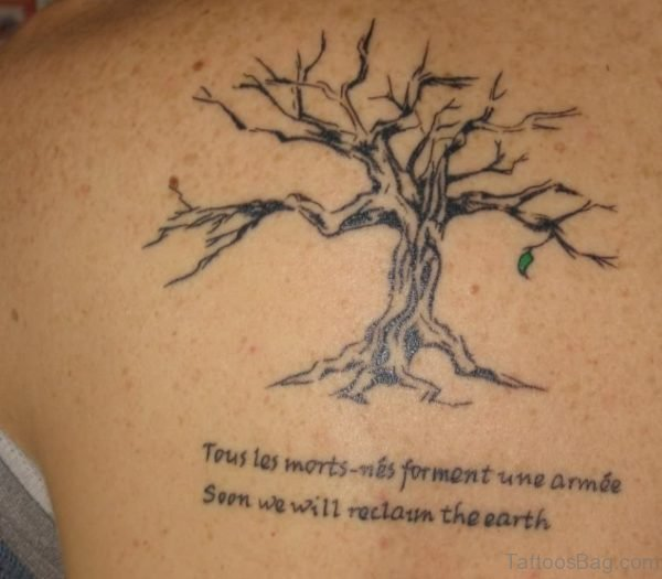 African Tree Tattoo On Back