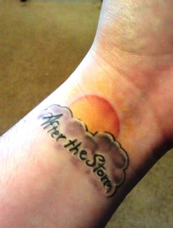 After The Sun Tattoo On Wrist