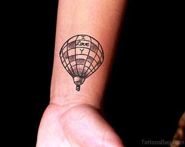 Air Balloon Wrist Tattoo