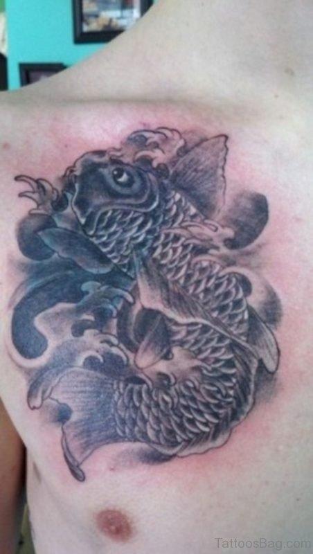 Alien Koi Fish Tattoo