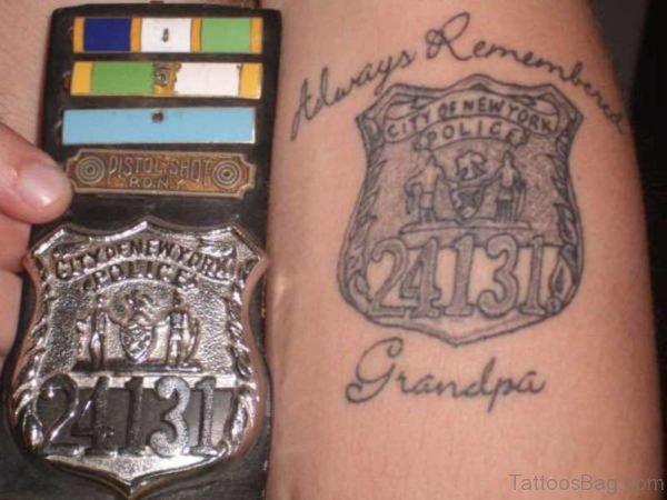 Always Remembered Grandpa Tattoo