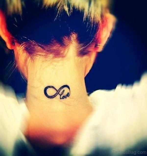 Amaizng Love Tattoo On Neck