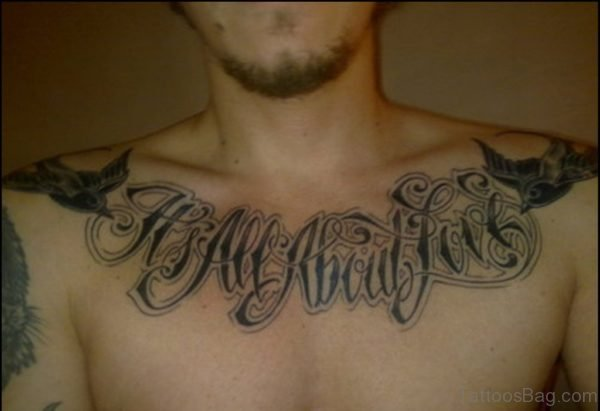 Amazing Ambigram Tattoo On Chest