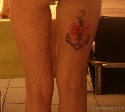 Amazing Anchor Tattoo On Thigh