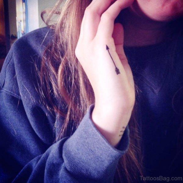 Amazing Arrow Tattoo On Hand