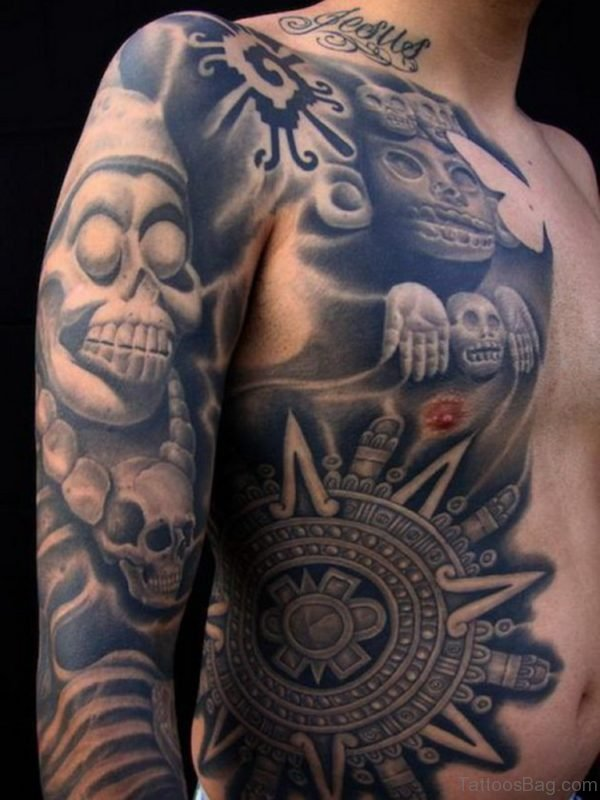 Amazing Aztec Tattoo