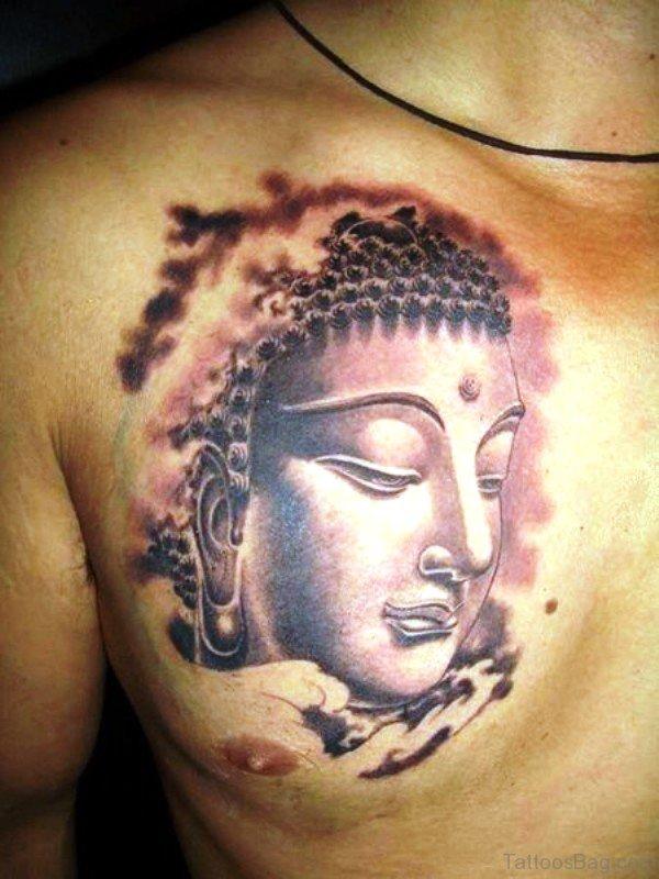 Amazing Buddha Tattoo On Chest