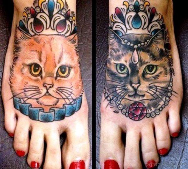 Amazing Cat Tattoos On Feet