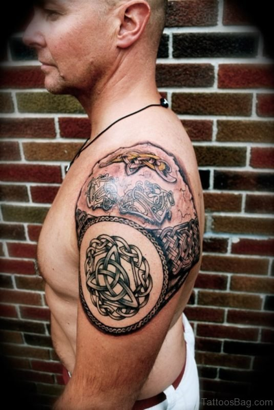 Amazing Celtic Tattoo Design On Shoulder
