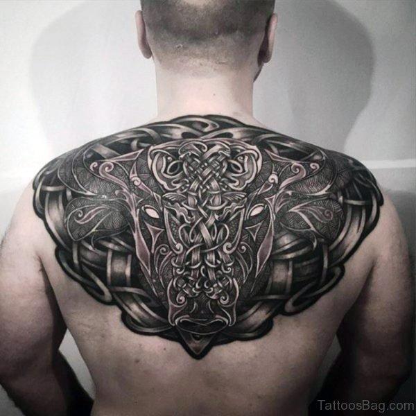 Amazing Celtic Tattoo On Back