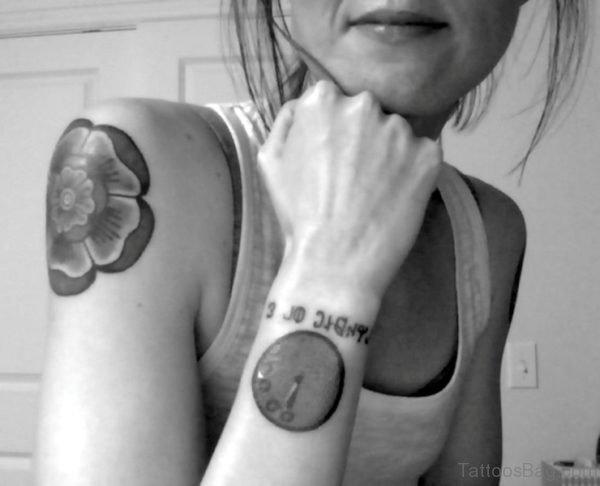 Amazing Clock Tattoo On Wrist