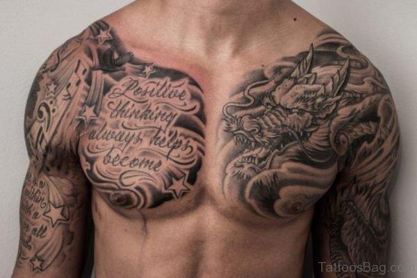 Amazing Cloud Shoulder Tattoo Design