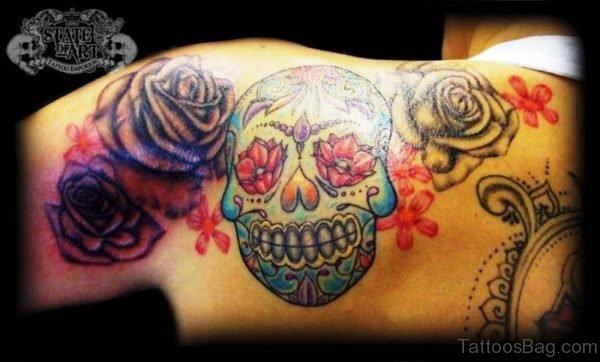 Amazing Colored Skull Tattoo