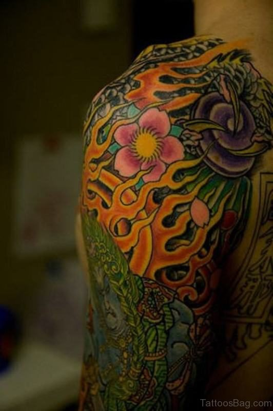 55 Classy Japanese Tattoos On Shoulder