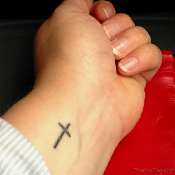 Amazing Cross Tattoo On Wrist