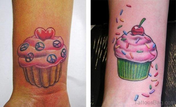 Amazing Cupcake Tattoo On Wrist