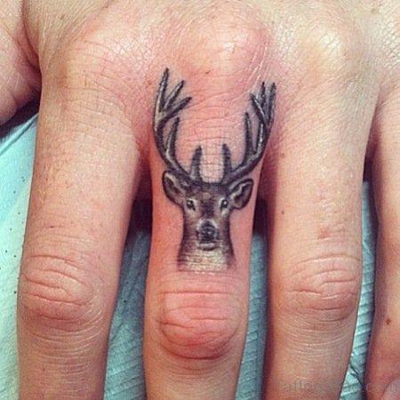 Amazing Dear Tattoo On Finger