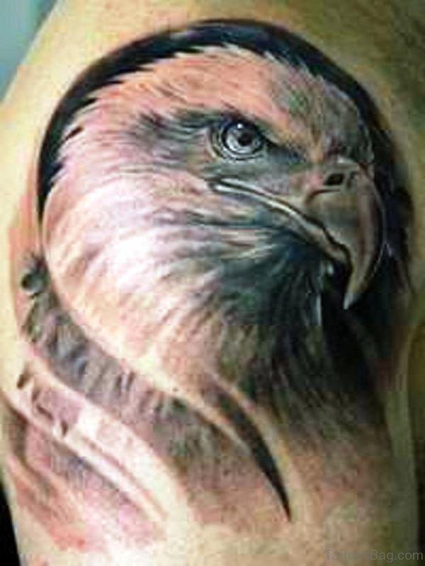 Amazing Eagle Shoulder Tattoo Design