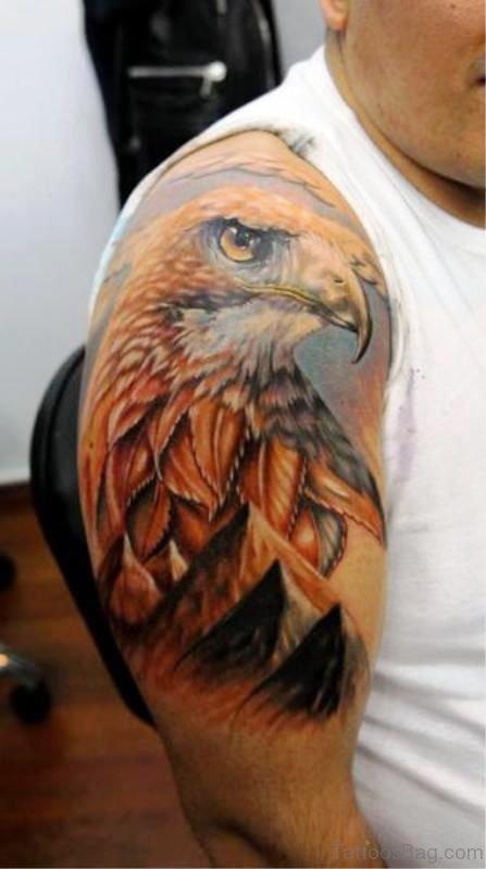 Amazing Eagle Shoulder Design
