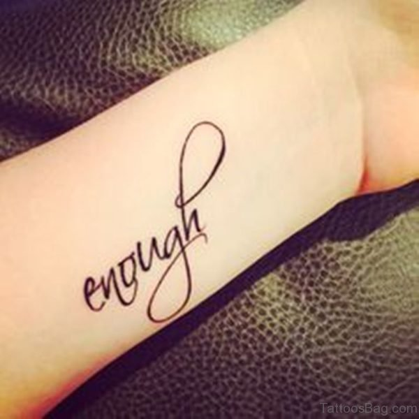 Amazing Enough Tattoo On Wrist